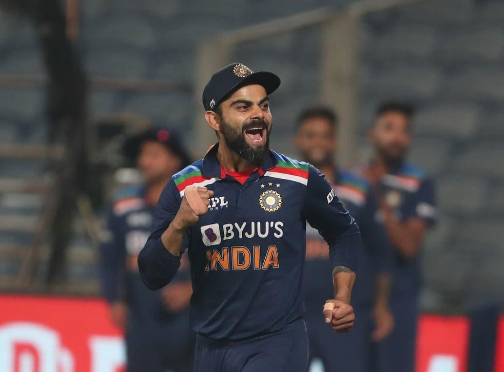 Virat Kohli celerbates India's victory
