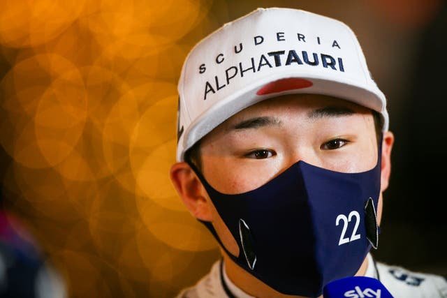 <p>Tsunoda finished ninth after a brilliant debut showing</p>