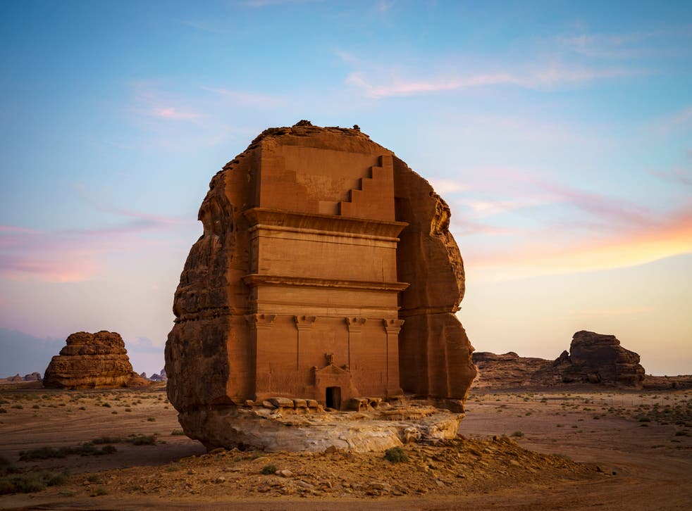 <p>The ancient city of Hegra was built thousands of years ago by the Nabataean people</p>