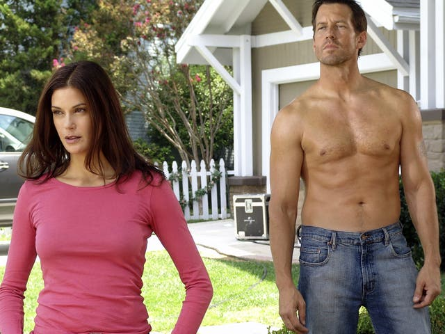 <p>Teri Hatcher and James Denton in Desperate Housewives</p>