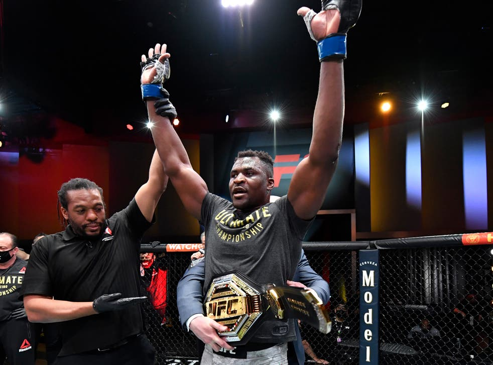 Francis Ngannou was crowned UFC heavyweight champion at UFC 260 last week