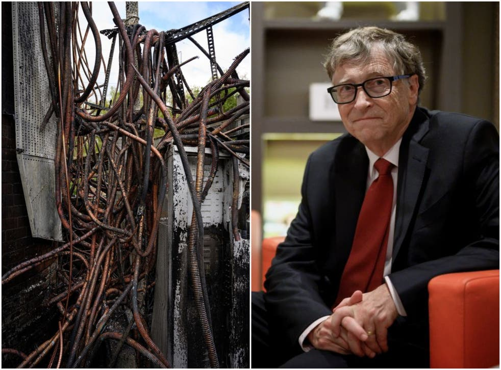 <p>5G masts and Bill Gates have been subject to fierce Covid conspiracy theories</p>