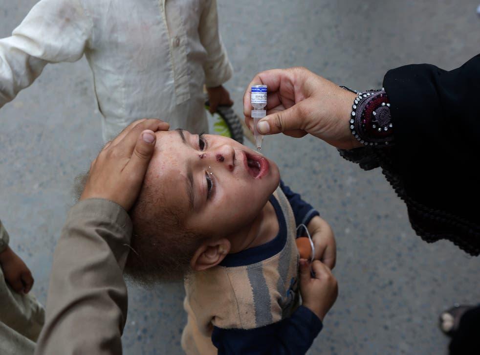 APTOPIX Pakistan Polio