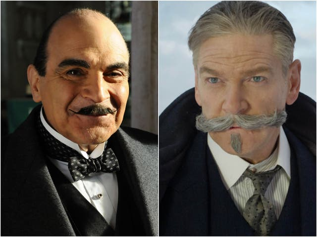 David Suchet and Kenneth Branagh as Poirot