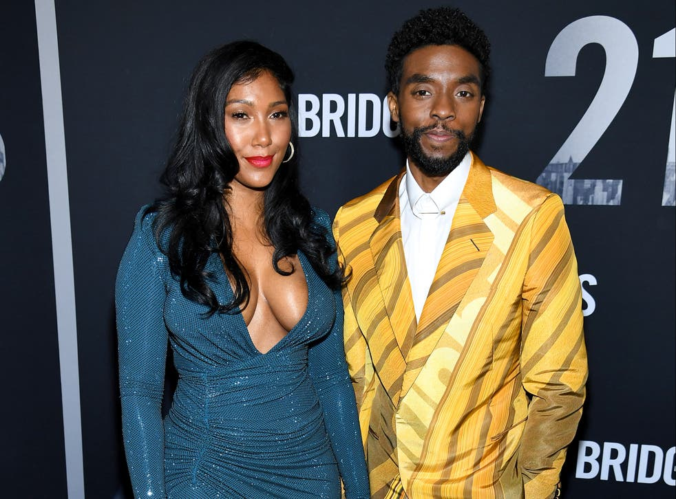 Chadwick Boseman's wife advocates for cancer awareness while accepting award for late husband