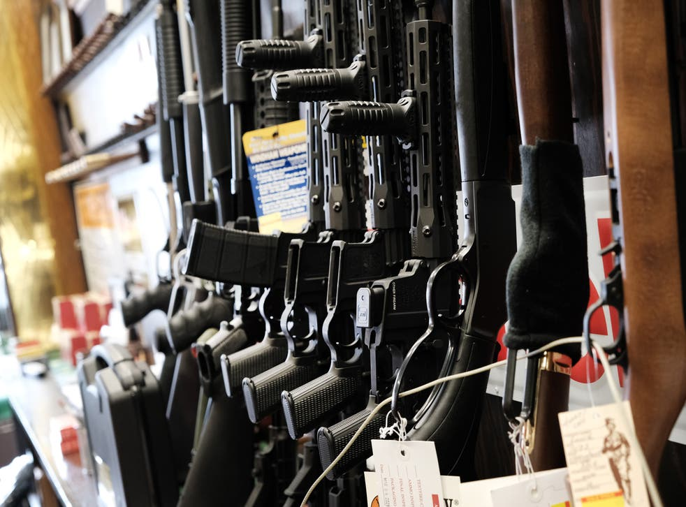 Few rifles remain on the shelf at Caso's Gun-A-Rama store on March 25, 2021 in Jersey City, New Jersey. Caso's Gun-A-Rama has had a significant increase in business with lines often out the door as more people buy guns for security and for fear that there will be increased bans on them. In the wake of recent mass shootings, the Biden administration is pushing for the Senate to pass gun legislation already passed by the House. Area gun businesses have seen a rise in sales recently that has even led to a shortage of bullets.