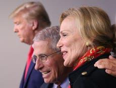 """Trump dice que Fauci y Birx pusieron """"millones de vidas en riesgo"""" en una declaración incoherente"""