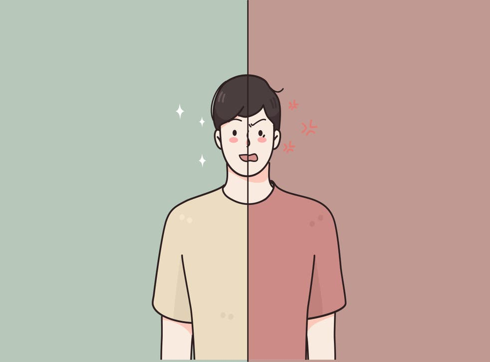 illustration of man with bipolar disorder