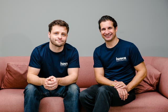 <p>The co-founders of iwoca: James Dear (left) and Christoph Rieche</p>