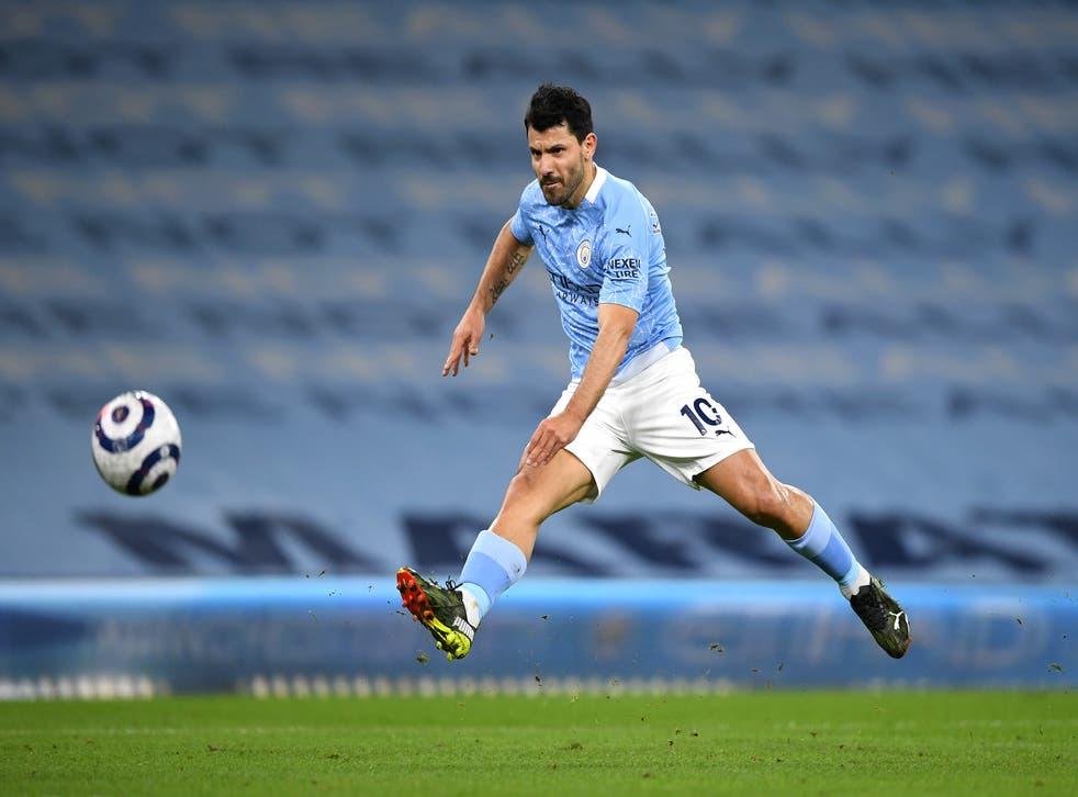 <p>Sergio Aguero has scored just one Premier League goal this season</p>