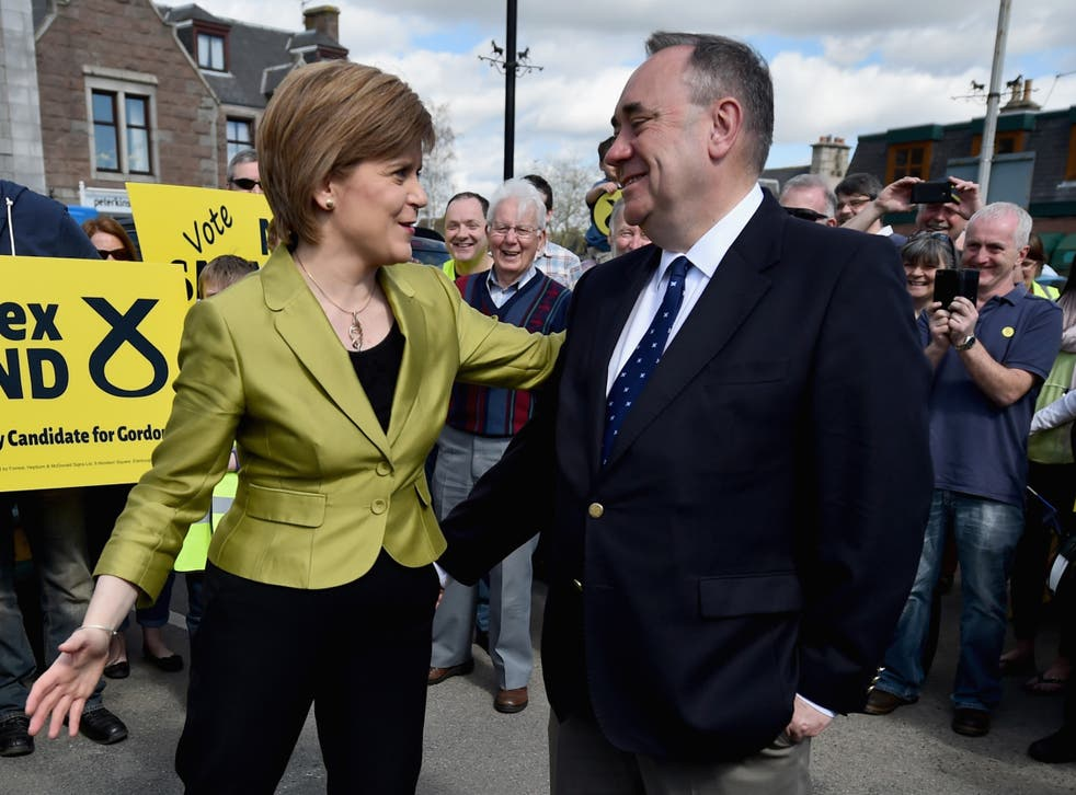 <p>Sturgeon and Salmond in happier times</p>