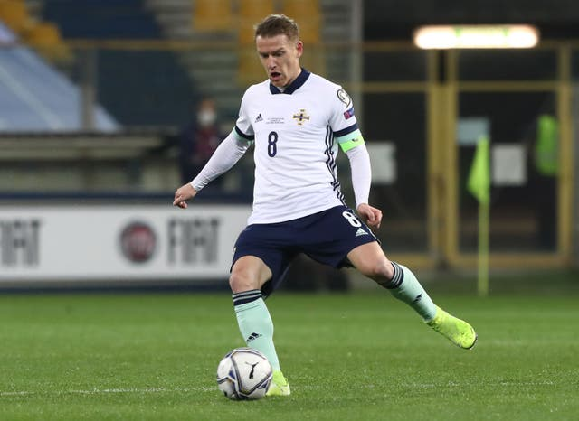 <p>Northern Ireland captain Steven Davis is set to make a record-breaking appearance against Bulgaria</p>
