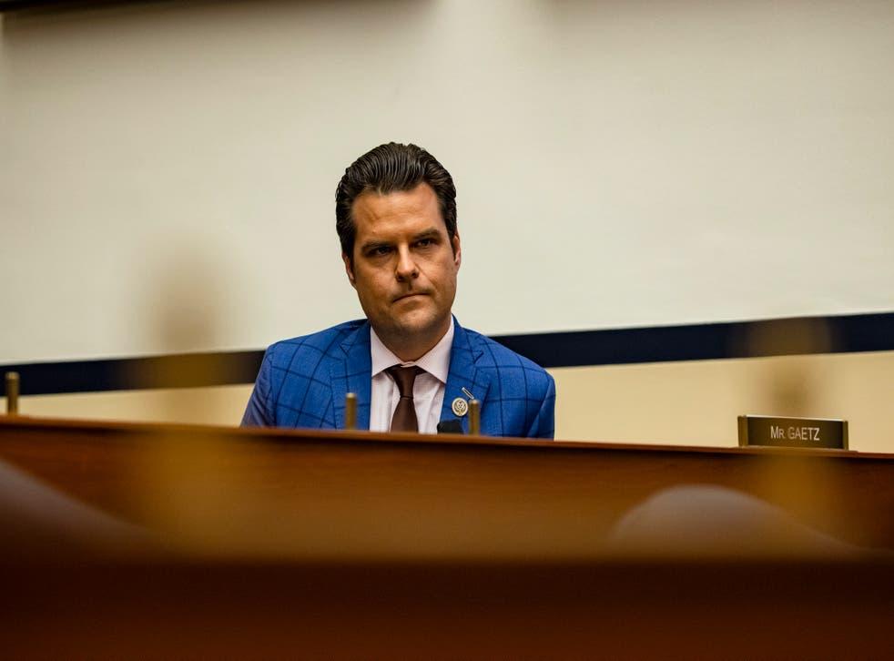 نماینده مات گائتز (R-FL) در جلسه استماع کمیته فرعی خدمات مسلح مجلس