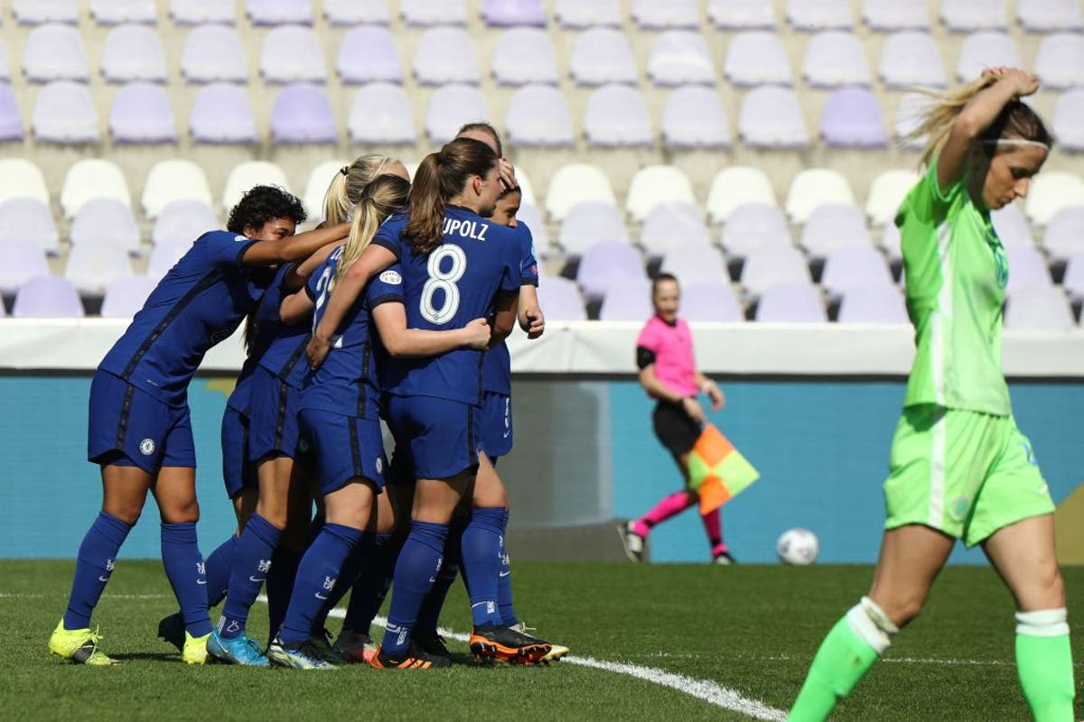 Chelsea into Women's Champions League semi-finals after resounding win over Wolfsburg