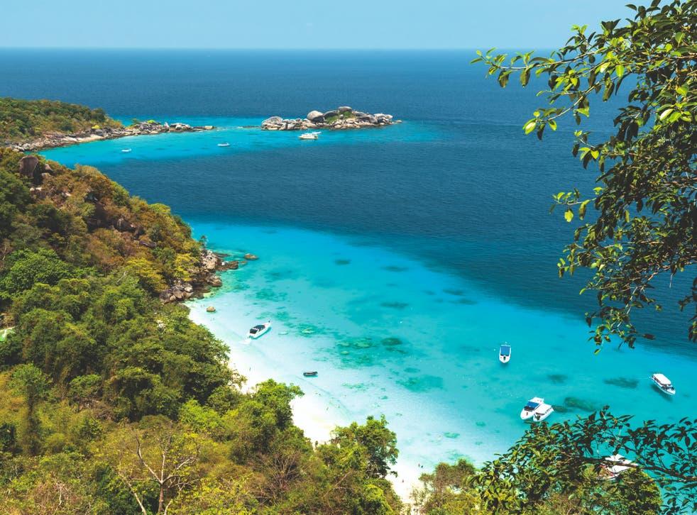 Blue view: a beach in Phuket, Thailand