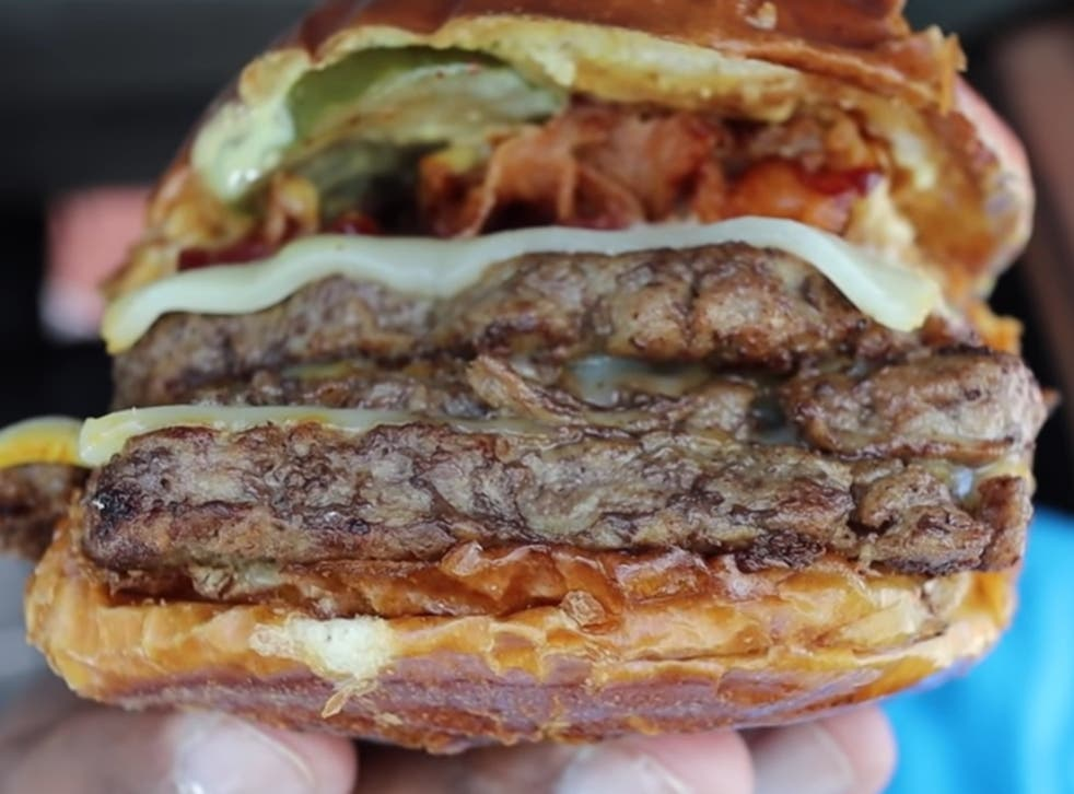 <p>Wendy's monster burger every nutritionists nightmare</p>