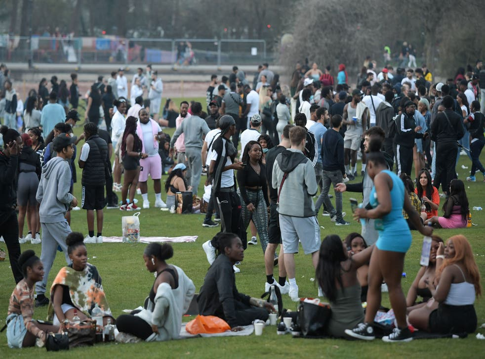 <p>Revellers packed into Cannon Hill Park in Birmingham on Tuesday</p>