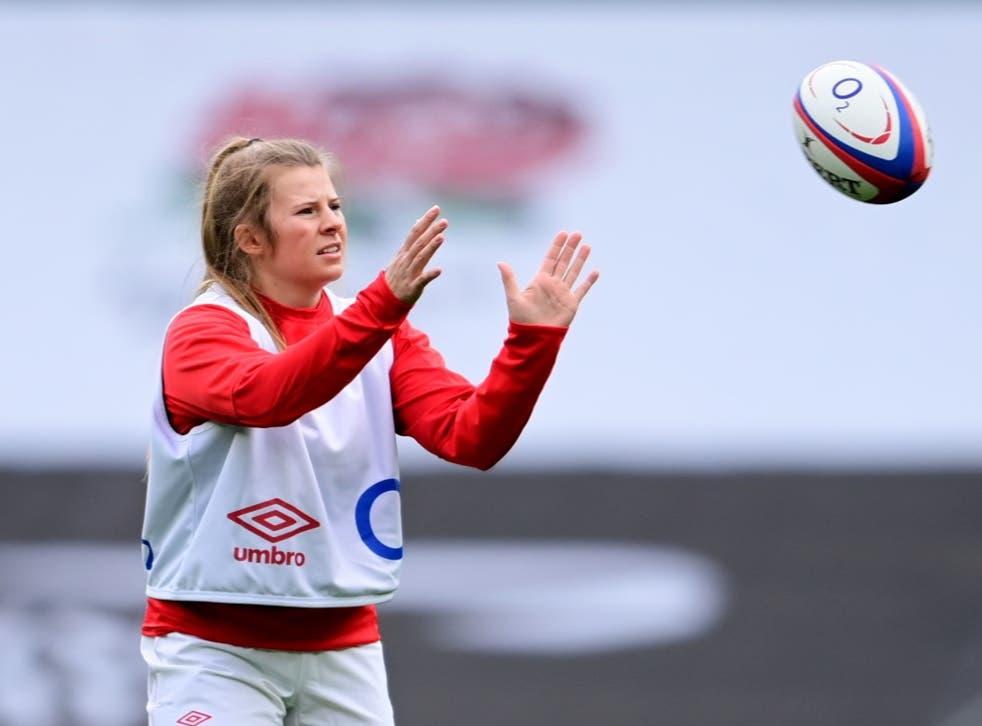 <p>Zoe Harrison in training</p>