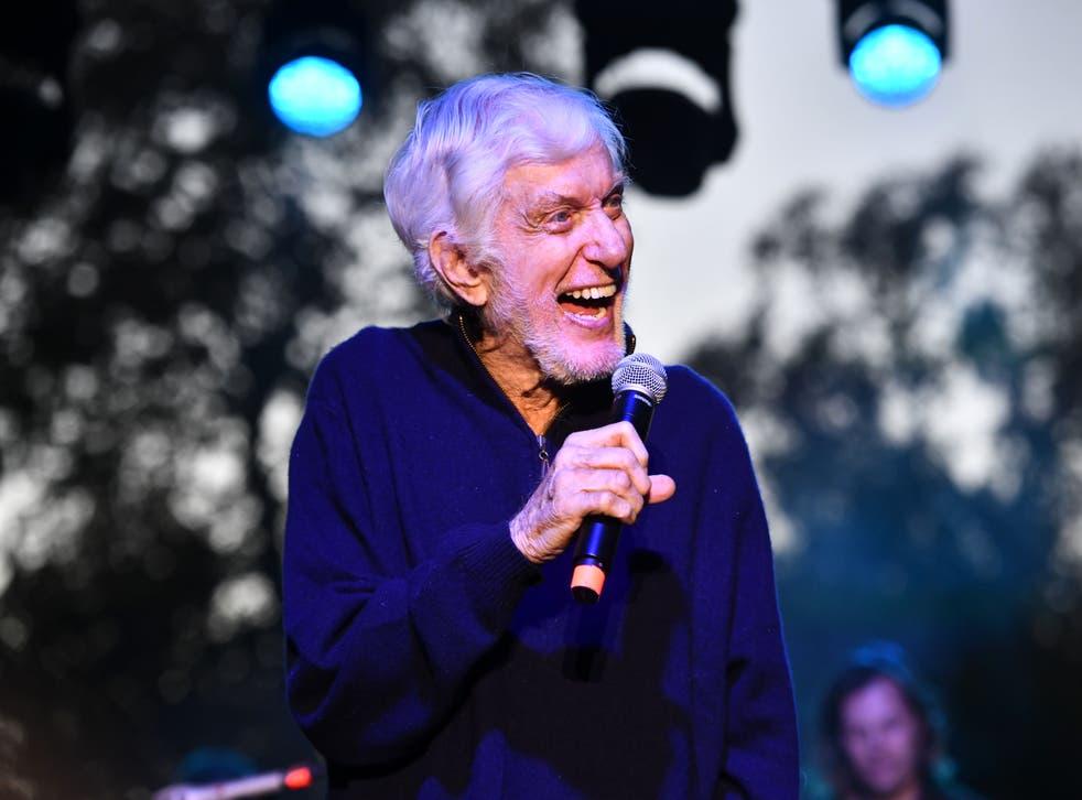 Van Dyke speaks at a Malibu festival in 2018