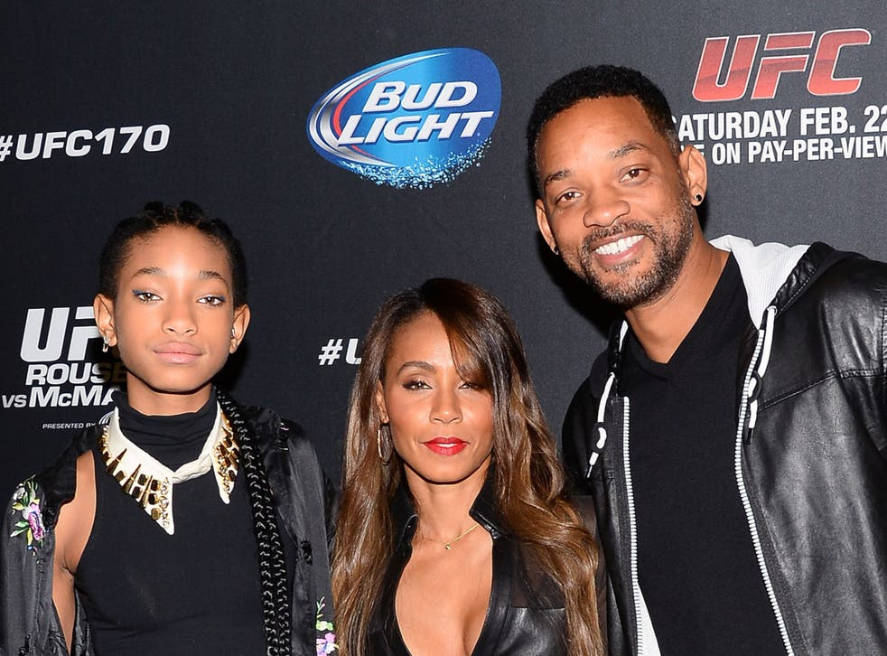 <p>Willow Smith, Jada Pinkett Smith and Will Smith in 2014</p>