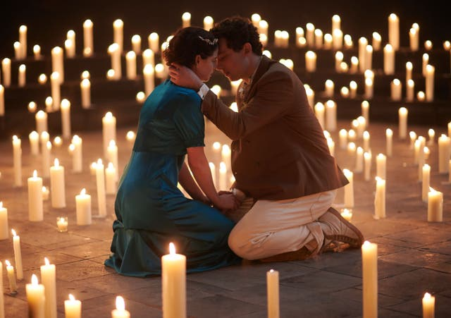 <p>Jessie Buckley and Josh O'Connor play the lovers</p>