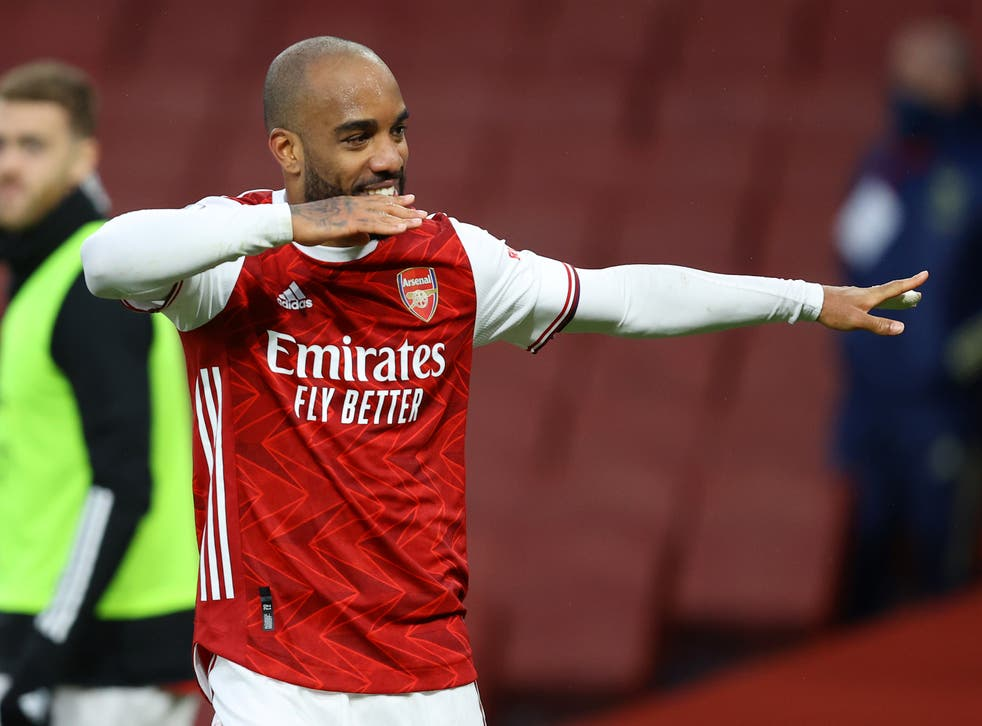 <p>Lacazette is Arsenal's top scorer in the Premier League this season with 11 goals</p>