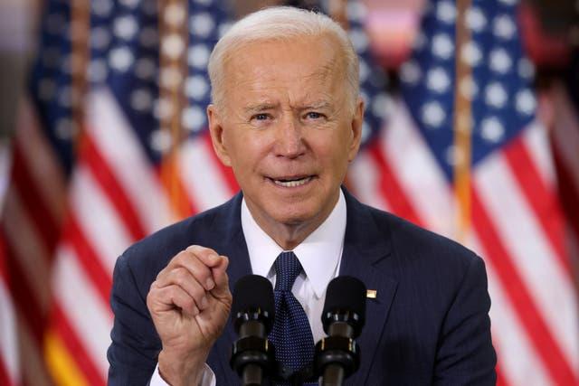 <p>Joe Biden promotes his infrastructure plan in Pittsburgh </p>