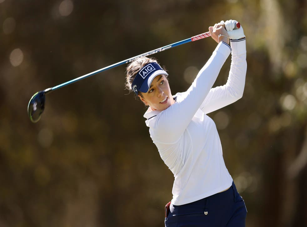 <p>Georgia Hall is one of eight players at three-under-par following the opening day</p>