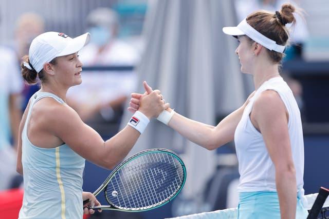 <p>Ash Barty defeated Elina Svitolina to reach Saturday's final</p>