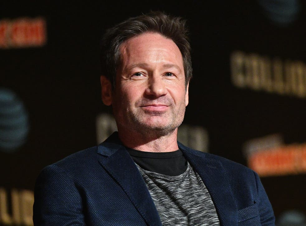 David Duchovny speaks during an X-Files panel during the New York Comic Con on 8 October 2017 in New York City