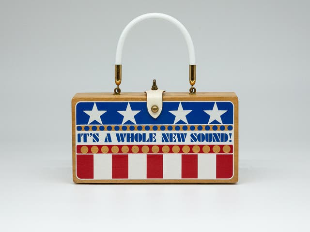 <p>Collins's bags became famous for their 'conversation starter' slogans </p>