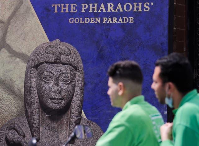 <p>El llamado Desfile Dorado de los Faraones será un evento de varios millones de dólares con estrictos protocolos de seguridad</p>