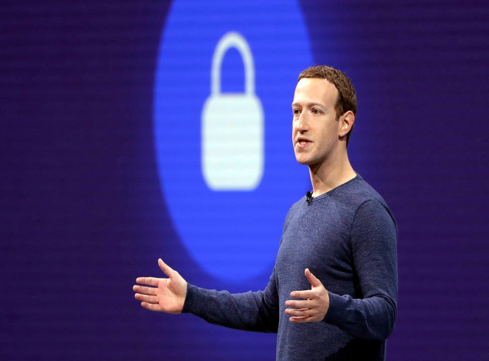 Facebook, whose CEO Mark Zuckerberg is pictured in 2018, said the leaked user data was from 2019