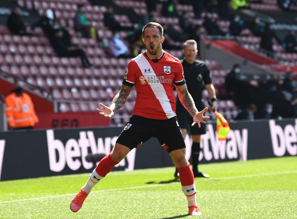 Danny Ings celebrates scoring against Burnley