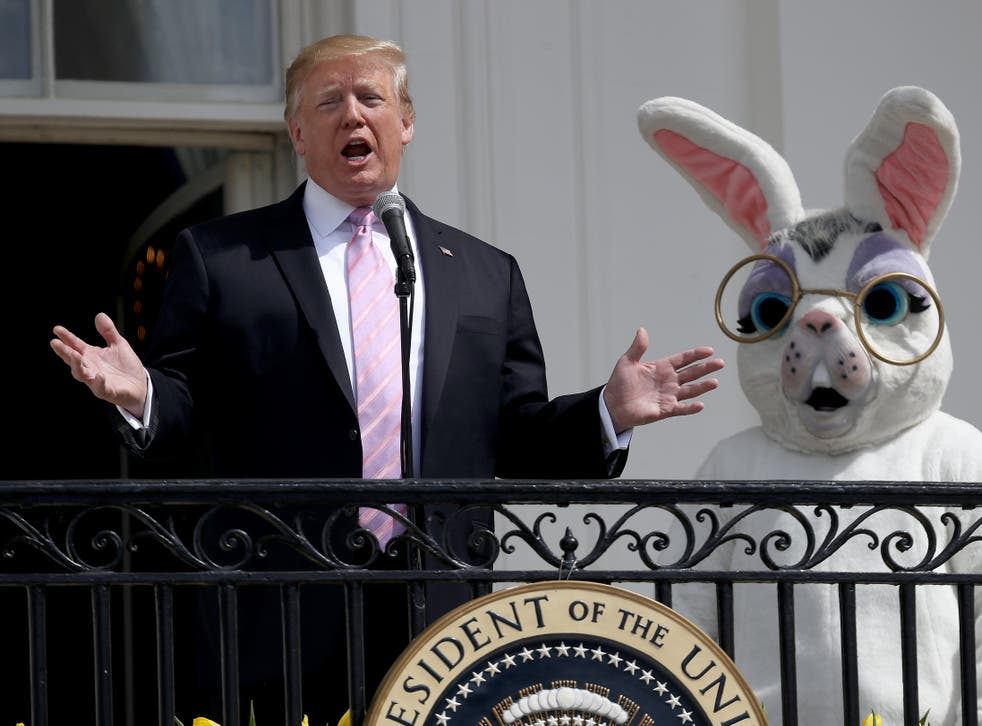Donald Trump celebrates Easter at the White House in 2019