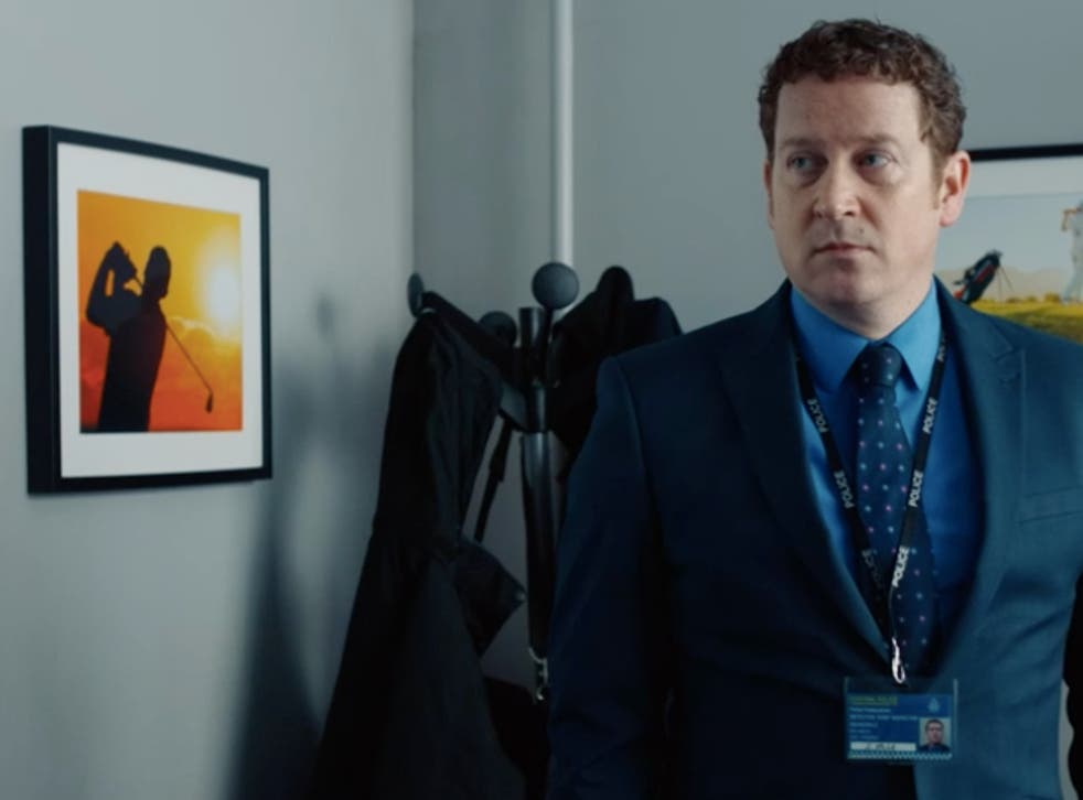 <p>The picture on Buckells' wall in 'Line of Duty has made viewers suspicious</p>