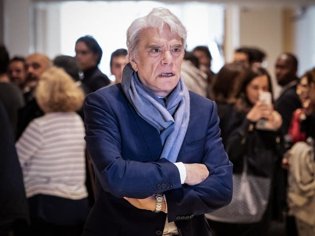 <p>Bernard Tapie pictured during a suspension of his trial for having allegedly defrauding French state of nearly half a billion euros</p>