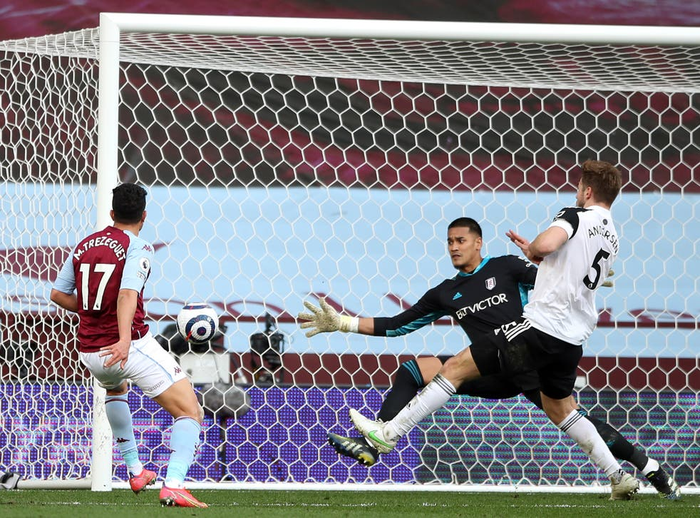 Trezeguet nets his and Aston Villa's second at the back post