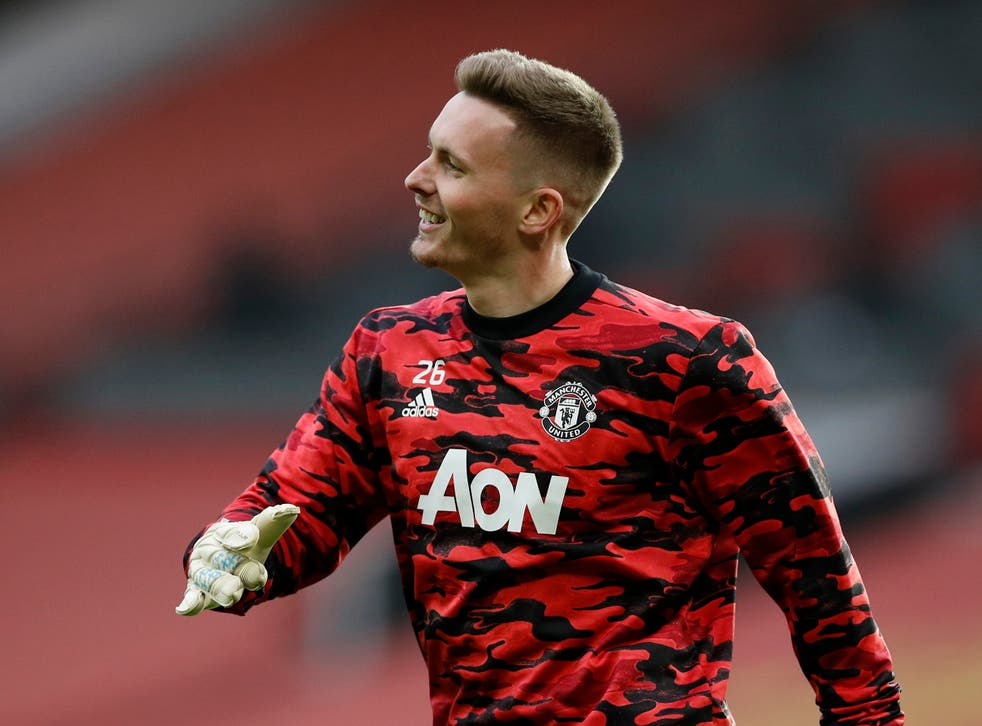 Dean Henderson is all smiles after being selected to start in goal for Manchester United