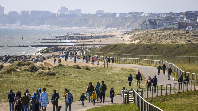 People spend Easter Sunday at Hengistbury Head, Bournemouth