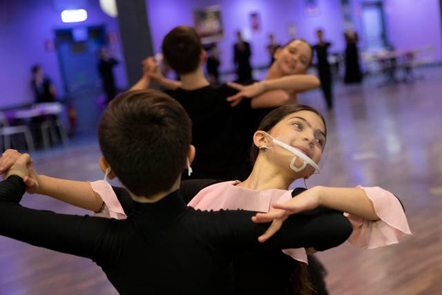 Virus Outbreak Italy Ballroom Dancing Photo Gallery