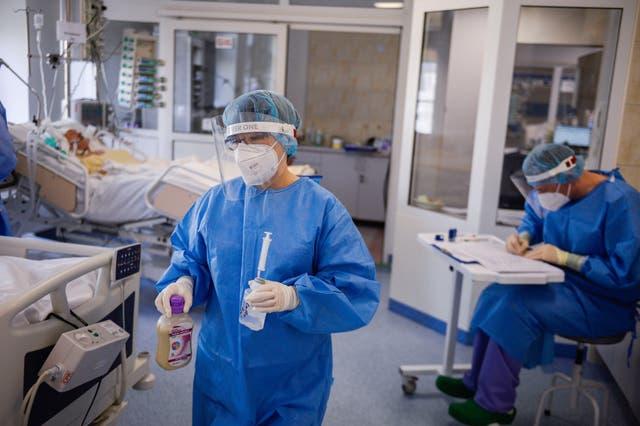 Virus Outbreak Poland Hospital