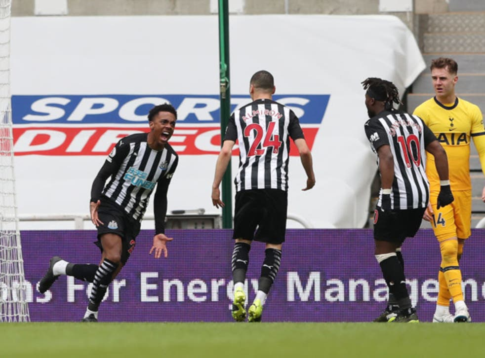 <p>Willock scored Newcastle's vital equaliser against Spurs on Sunday</p>
