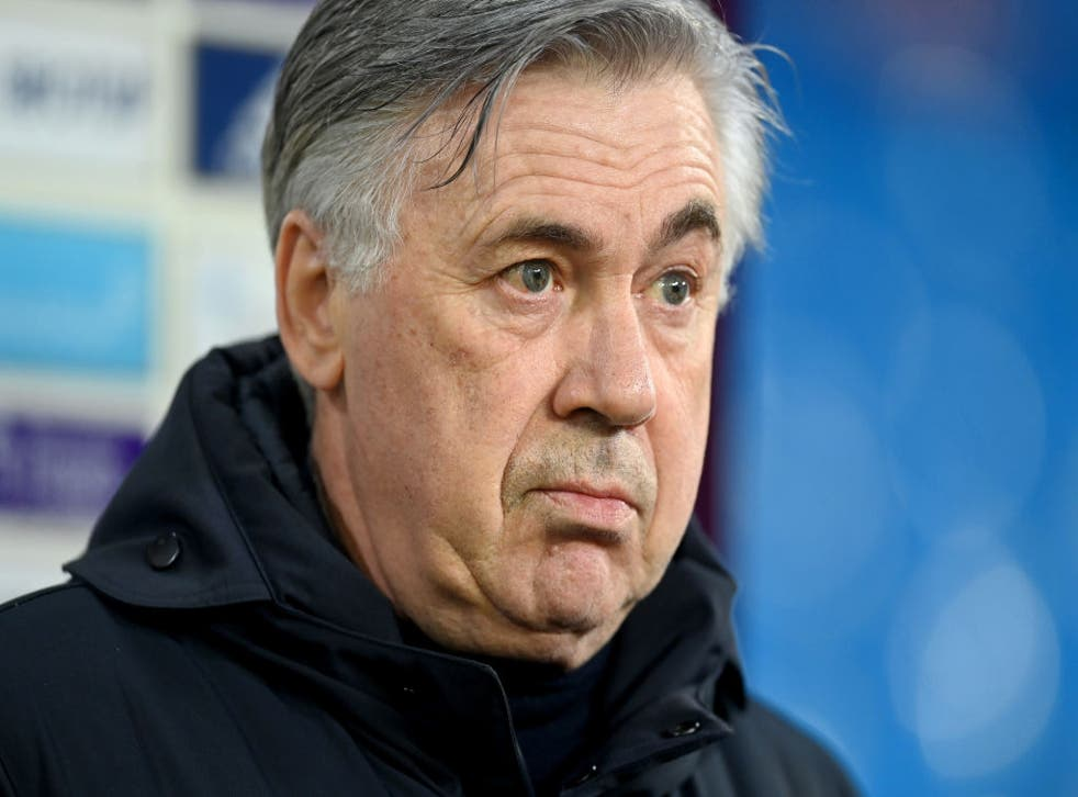 <p>Ancelotti is aiming for Europe with Everton</p>