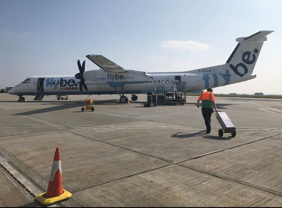 Distant dream: a Flybe aircraft at Newquay airport before the airline collapsed