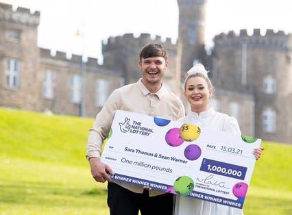 Lottery scratchcard winner Sara Thomas