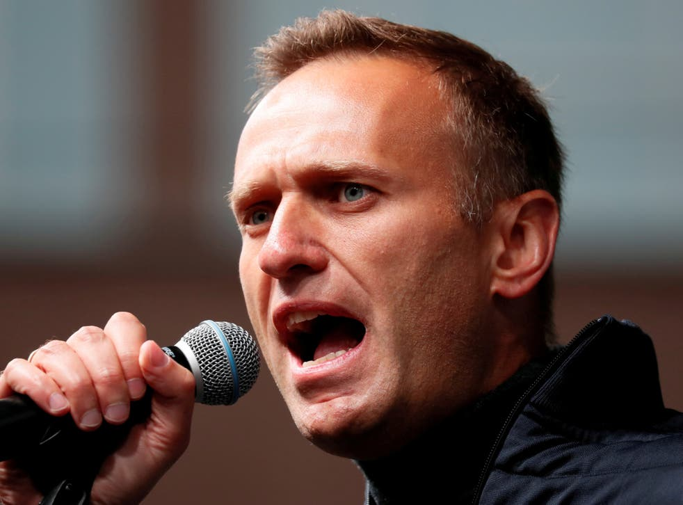 Alexei Navalny was arrested in January upon his return from Germany, where he had been recovering from a nerve-agent poisoning
