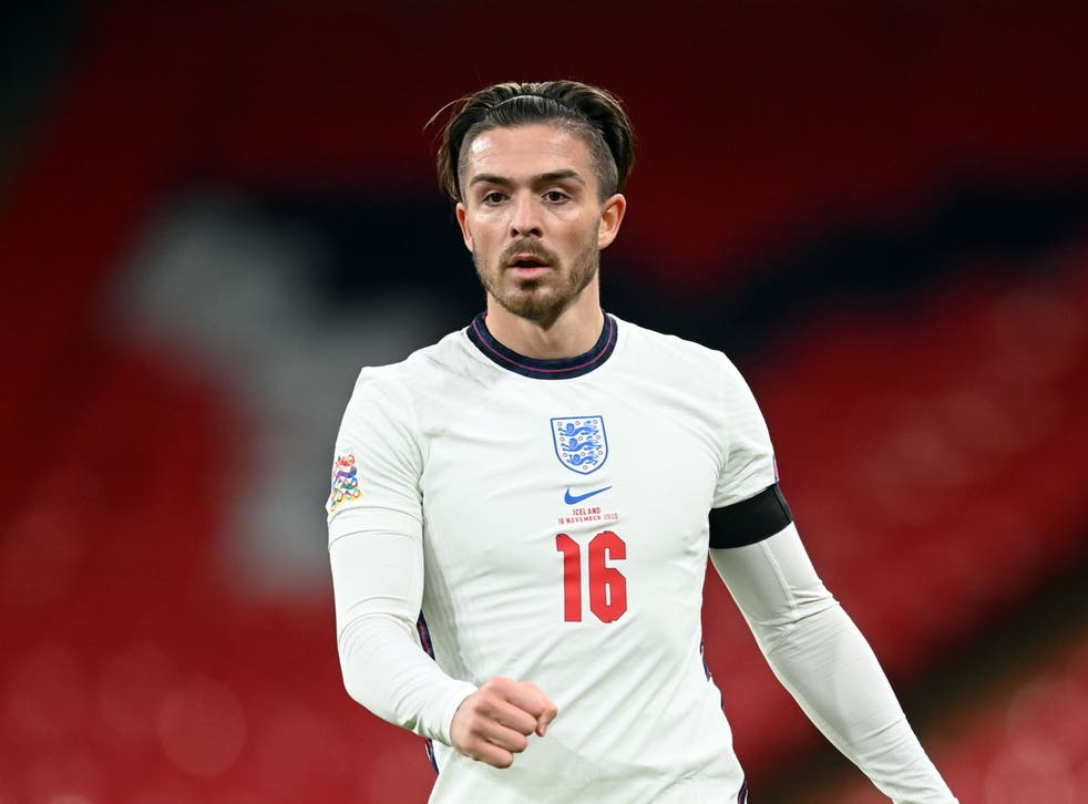 Jack Grealish in action for England against Iceland