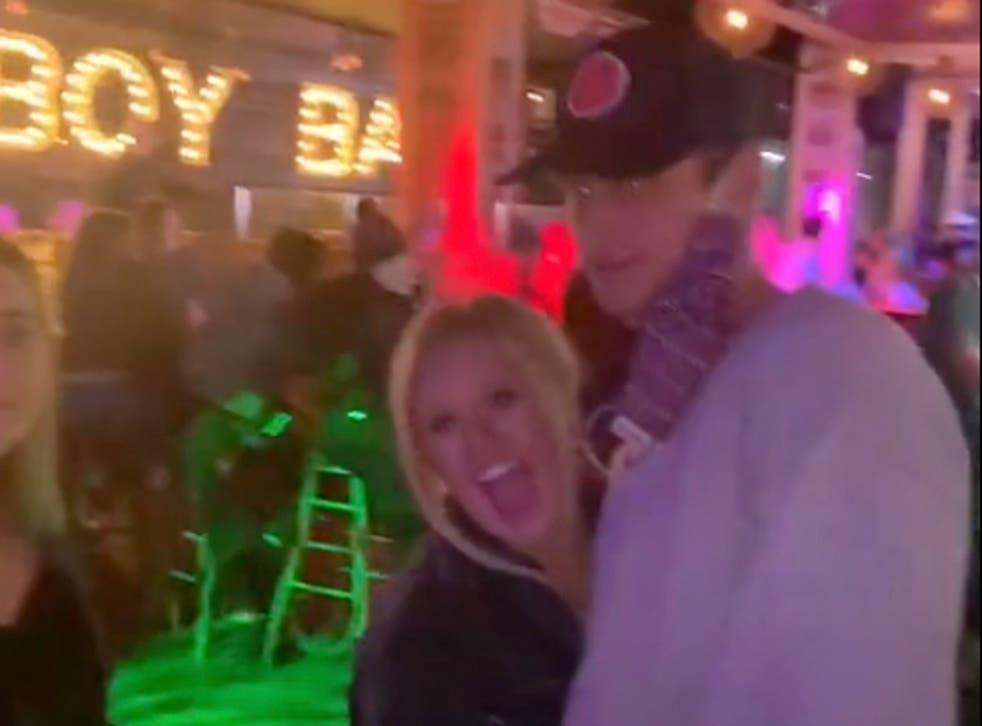 TikTok video of fake proposal