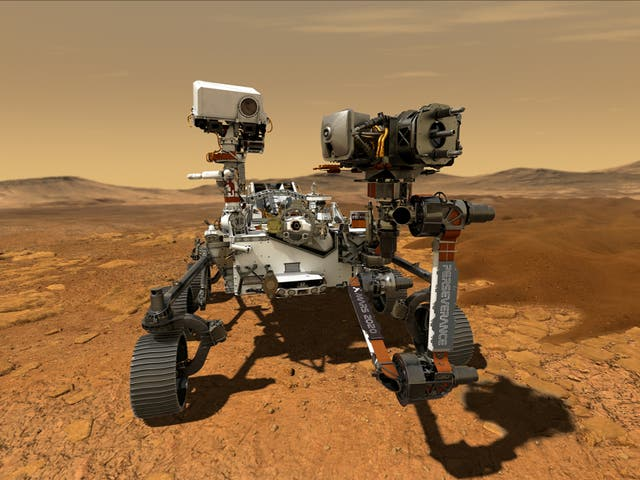 NASA's Perseverance Mars rover, the biggest, heaviest, most advanced vehicle sent to the Red Planet by the National Aeronautics and Space Administration